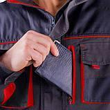 Куртка SteelUZ (чорна з червоними елементами), фото 4