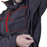 Куртка SteelUZ (чорна з червоними елементами), фото 5