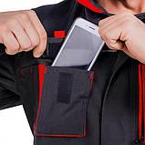 Куртка SteelUZ (чорна з червоними елементами), фото 6