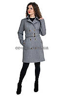 Пальто кашемірове, двобортне, класичне . Відтінки сірого кольору, пудрового та чорного.