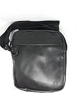 Мужская сумка черная барсетка на плечо