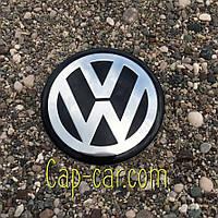 3D наклейка фольцваген для дисків Volkswagen. 65мм
