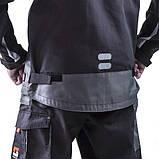 Куртка SteelUZ (чорна з сірими елементами), фото 6