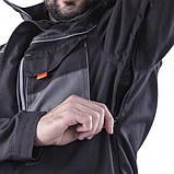 Куртка SteelUZ (чорна з сірими елементами), фото 3