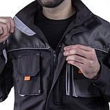 Куртка SteelUZ (чорна з сірими елементами), фото 4