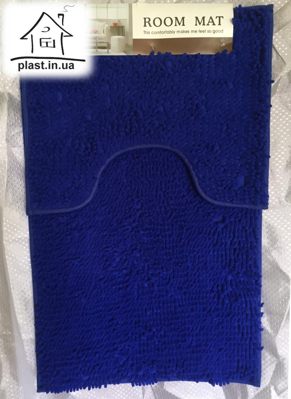 Набір килимків для ванної кімнати Локшина 90*60 см (синій)