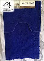 Набор ковриков для ванной комнаты Лапша 90*60 см (синий), фото 1