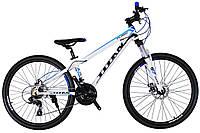 🚲Горный алюминиевый велосипед TITAN FLASH (21 speed, Lockout, Shimano); рама 13; колеса 26, фото 1