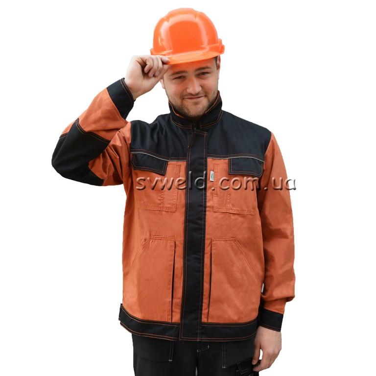 Куртка Перформер (теракотово-чорна)