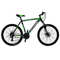 🚲Горный алюминиевый велосипед TITAN RAPTOR DD 2018 (Shimano, 24sp, Lockout); рама 21; колеса 26, фото 1