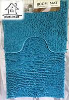 Набор ковриков для ванной комнаты Лапша 90*60 см (голубой)