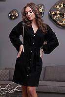 Модное красивое повседневное платье зима 2020 ц. черный р. S, M, L, XL