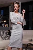 Модное красивое повседневное платье зима 2020 ц. серый р. S, M, L, XL