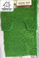 Набор ковриков для ванной комнаты Лапша 90*60 см (зеленый)