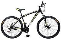 🚲Горный стальной велосипед CROSS SHARK (Disk, моноблок, 21 speed); рама 17; колеса 29, фото 1