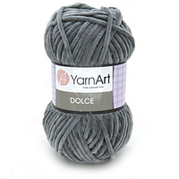 Плюшевая пряжа (100% микрополиэстер, 100г/120м) YarnArt Dolce 760(серый)