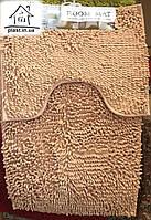 Набор ковриков для ванной комнаты Лапша 90*60 см (светло-бежевый)