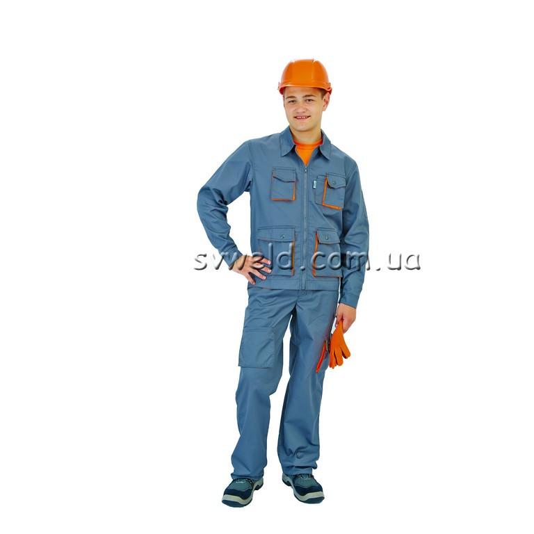 Куртка робоча Спектр (сіро-помаранчева)