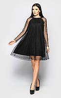 Красивое нарядное женское платье ц. черный р. S, M, L