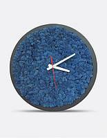 Интерьерные Часы С Мхом Blue D20, 30, 50см