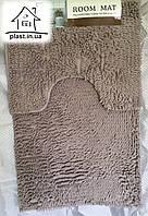 Набор ковриков для ванной комнаты Лапша 90*60 см (светло-серый)