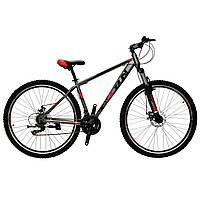 🚲Горный стальной дисковый велосипед EVOLUTION DD (Shimano, моноблок); рама 17; колеса 29, фото 1