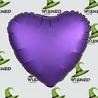 Шарик (45см) Сердечко фиолетовое матовый