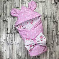 Конверт одеяло в роддом на выписку для прогулок лето