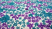 Ткань цветочный белый штапель с принтом, фото 1