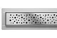 """Трап лінійний з сухим затвором Fala Rotary L=900мм., решітка """"краплі/napo"""""""