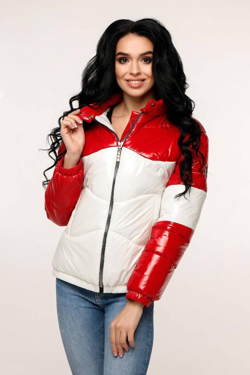 Куртка стеганая демисезонная молодежная , выполнена из двух тонов ткани Фольга с 44 по 54 размер - SvitStyle