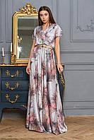 Платье женское длинное  цвет: стальной, размер: S, M, L, XL
