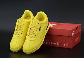 Мужские кроссовки Puma Roma BMW желтого цвета