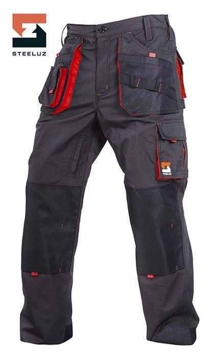 Штани SteelUZ (чорні з червоними елементами)