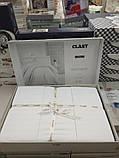 Комплект постельного белья Clasy Strip сатин однотонный Beyaz, фото 5