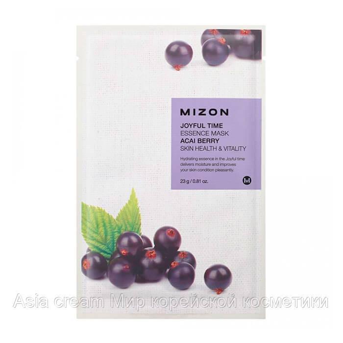 Тканевая маска для лица с экстрактом ягод асаи Mizon Joyful Time Essence Mask Acai Berry