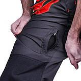 Напівкомбінезон SteelUZ, STEELUZ RED (чорний з червоними елементами), фото 2