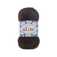 100% мерсеризованный хлопок(50г/280м) Alize Miss 26(коричневый)