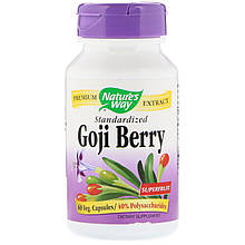 "Ягоды годжи Nature's Way ""Goji Berry Standardized"" стандартизированный экстракт, 500 мг (60 капсул)"
