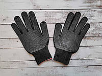 Перчатки нейлоновые черные с ПВХ точкой