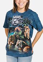 3D футболка женская The Mountain р.M 48-50 RU футболки с 3д принтом рисунком Big Jungle Cats