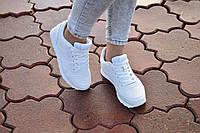 Белые женские кроссовки . Очень удобная модель