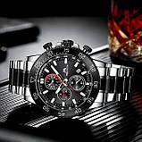 MegaLith Чоловічі годинники MegaLith Whiskey Black, фото 4