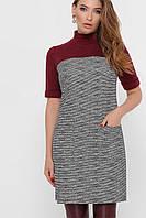 Платье женское, цвет: букле ромб-бордо, размер: L, M, S, XL