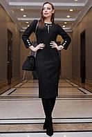Модное красивое повседневное платье весна 2021 ц. черный р. S, M, L, XL