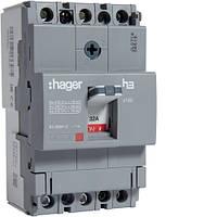 Автоматический выключатель x160, 32А, 3п, 18kA, Тфикс./Мфикс, Hager