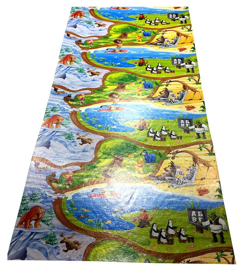 Дитячий ігровий килимок для повзання дитини «Happy Kinder» XXL 2500х1200х8 мм