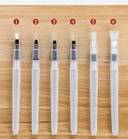 Набор синтетических кистей с резервуаром для воды для рисования 6шт / уп