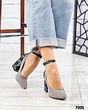 Шикарные туфли на каблуке на ремешке, фото 5