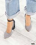 Шикарные туфли на каблуке на ремешке, фото 7